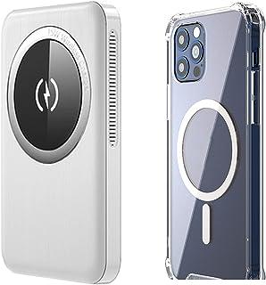 TWDYC 15 w magnetisk trådlös powerbank 10 000 mah, 20 w Pd snabbladdare, externt batteri, kompatibel med iPhone 12/12 Min...