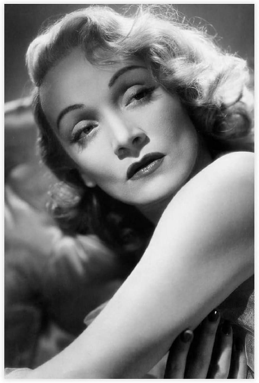 Póster de lona de Actor Marlene Dietrich 31, decoración de dormitorio, deportes, paisaje, oficina, habitación, decoración, regalo, 50 x 75 cm