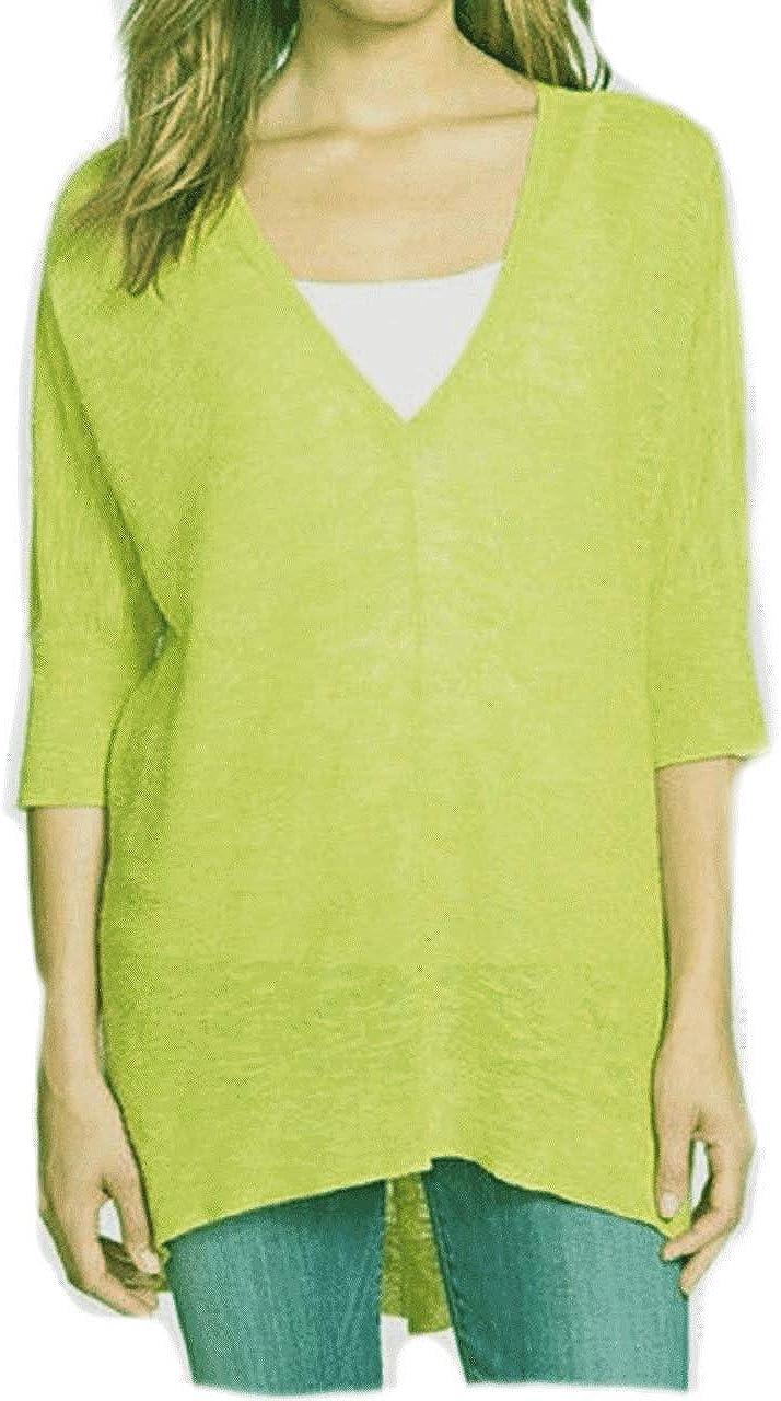 Eileen Fisher Organic Linen Cotton Honeydew Tunic Top M MSRP $178.00