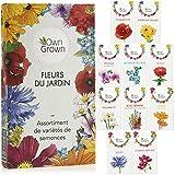 Kit de graines de fleurs: 10 variétés de semences de fleurs et de...