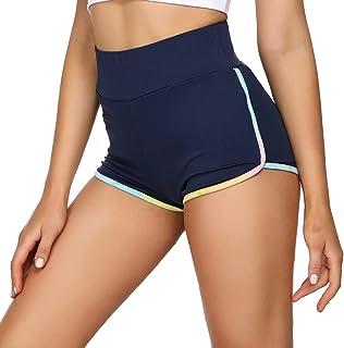 Wayleb Pantalones Corto Chandal Mujer Pantalon Corto Deportivos Shorts Verano Cintura Alta Cortas Leggins para Correr Yoga...