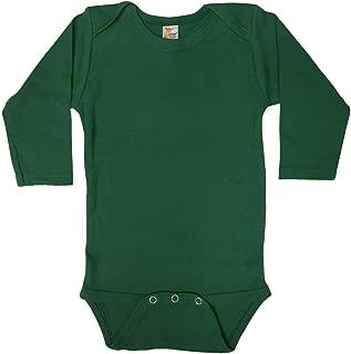 Laughing Giraffe Baby Unisex Infant Blank Cotton Long Sleeve Onesie Bodysuit (6-12M, Kelly Green)