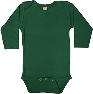 Laughing Giraffe Baby Long Sleeve Onesie Bodysuit (0-3M, Kelly Green)
