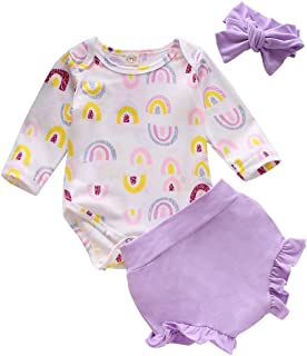Newborn Infant Toddler Baby Girls Short Sets Summer Clothes Set Sleeveless T-Shirt Tops+Shorts Pants+Headband Outfit