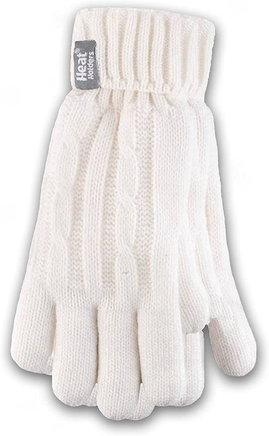 HEAT HOLDERS Ladies Cable Knit Gloves, Cream, Large/X-Large (LHHG94CRM2)