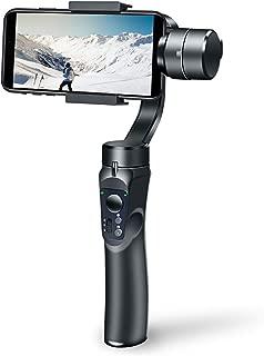 Vialove スタビライザー 3軸手持ちジンバル 垂直&水平撮影手ブレ防止 撮影安定 手動で方向を制御 映画作成 スタビライザー mobile ジンバル 自撮り棒 iPhone/Android対応 操作簡単 自動調整 Bluetoothに接続 初心者 日本語取説付属