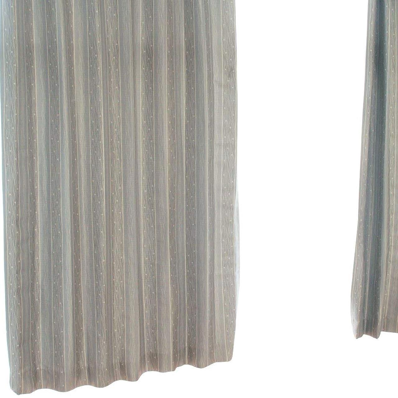 ロゴ真っ逆さま満たす■アウトレット激安■【S048】2級遮光カーテン 2枚組 (巾100cmx丈135cm, グレイ)