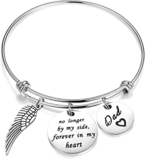 Memorial Bracelet for Men in Memory of Jewelry Bangle Jewelry Gifts Remembering Loss of One You Loved Father Sympathy Reme...