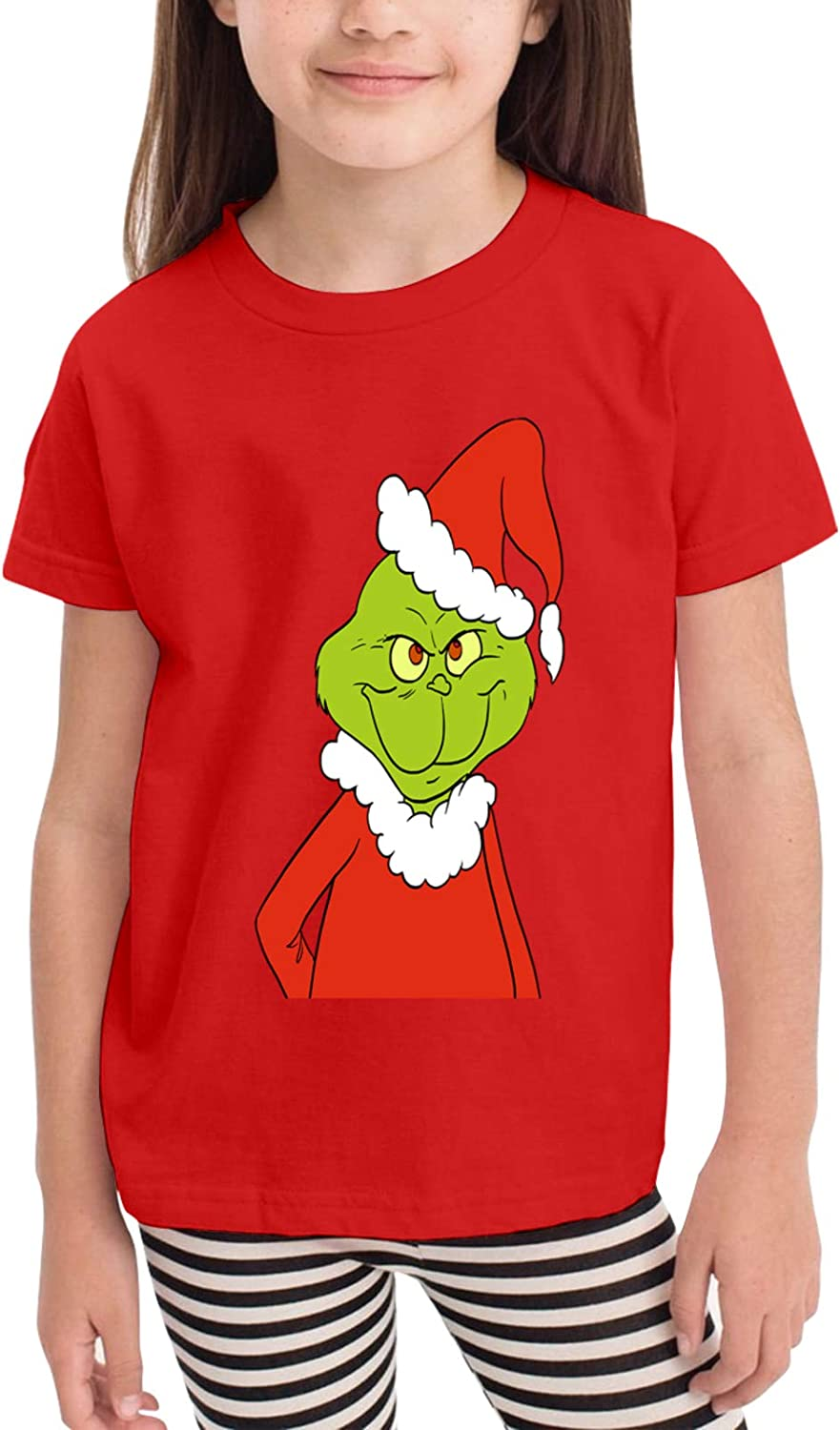 Fp-Linked Toddler/Infant Crewneck Short Sleeve Shirt Grinches T-Shirt for 2-6 Toddlers White