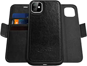 Newseego Compatible with iPhone 11 Leather Case(6.1 Inch),Wallet Case [Detachable 2 in 1 Wallet Folio] [Premium Vegan Leat...