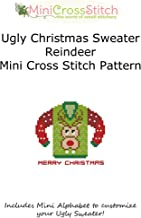 Ugly Christmas Sweater Reindeer Cross Stitch Pattern