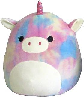 "Squishmallows Kellytoy 16"" Rainbow Tie Dye Unicorn Super Soft Plush Toy Pillow Animal Pet Pal Buddy (Rainbow Unicorn)"
