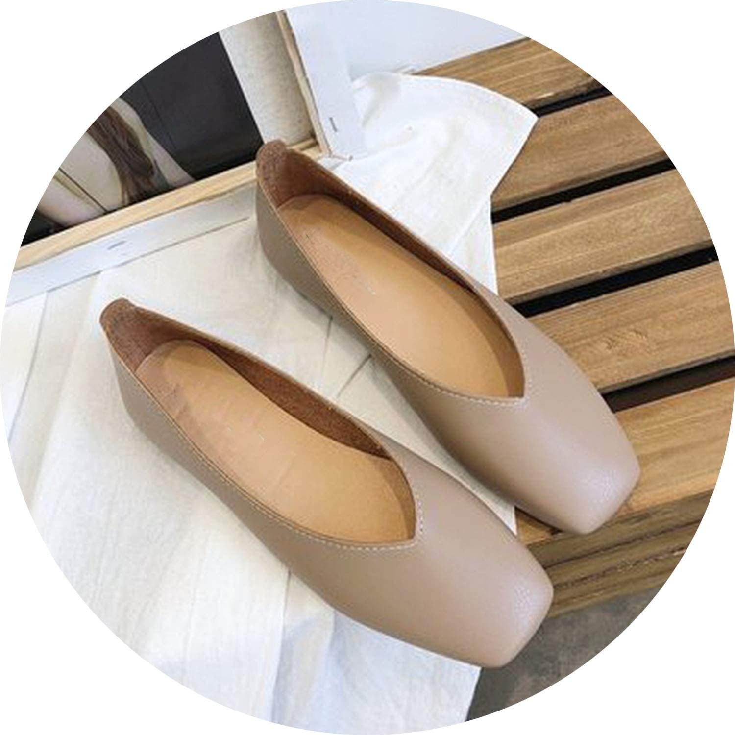 Ting room Women Flats Soft Leather Ballet Flats Handmade Slip-on Loafers Ladies Moccasins Casual shoes