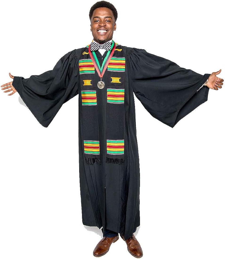 Blank DIY Graduation Kente Stole Bonus 3 Gifts Latest item Over item handling Medallion +