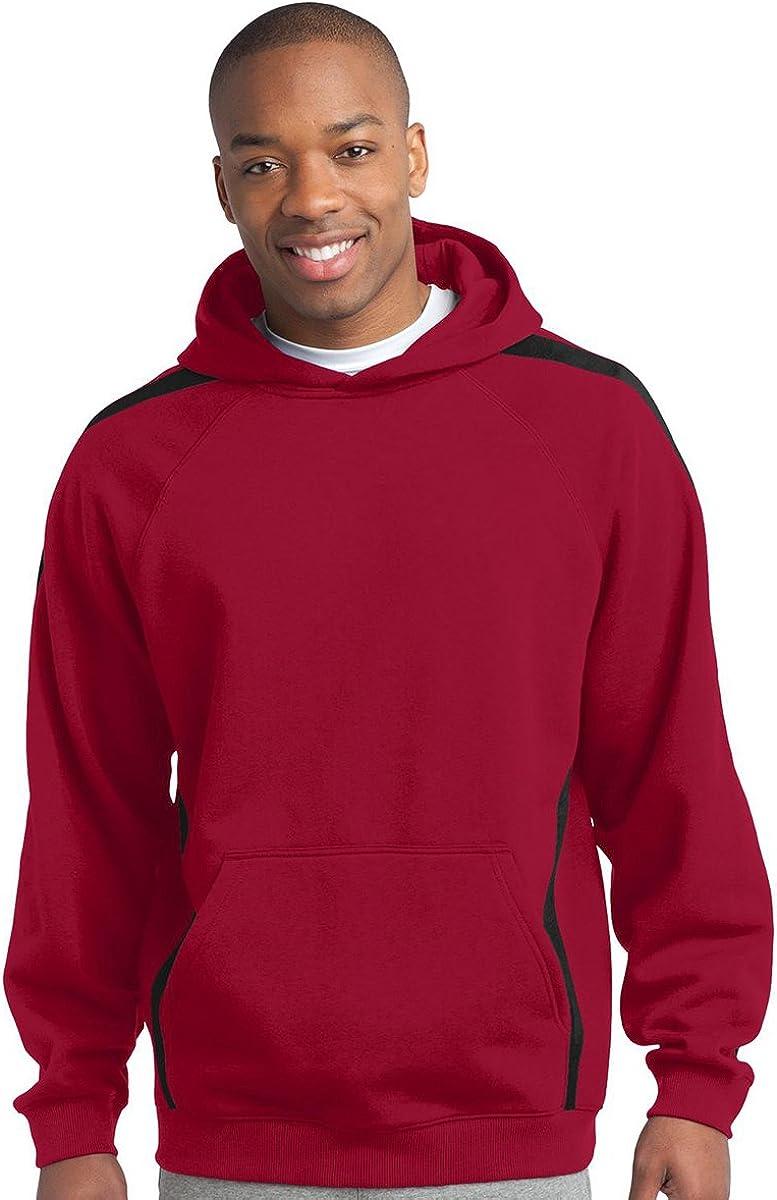 Sport-Tek Men's Big And Tall Hooded Sweatshirt_Tr Red/Black_3XL Tall