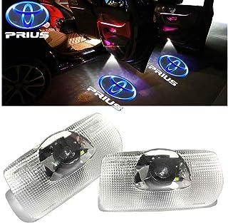 Minile プリウス車用ドアランプ ロゴ カーテシランプ ドアウェルカムライト カーテシライト LEDロゴ投影 30系 50系トヨタシリーズ カーテシ 交換タイプパーツ 2個セット for Prius A