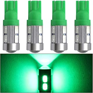 shunyang Car Replacement T10 921 194 5630 LED W5W 10 SMD Projector LED Bulbs Backup Reverse Lights T10 LED Bulbs Car Interior Dome Map Door Courtesy License Plate Lights Green 4Pcs