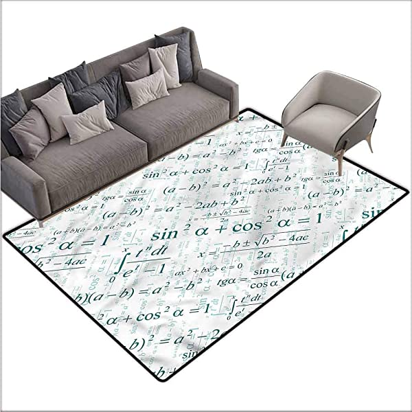 Office Chair Floor Mat Foot Pad Mathematics Classroom Math Formulas 48 X 60 Throw Rugs