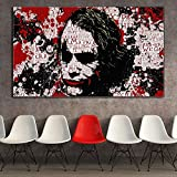 KWzEQ Payaso Graffiti Pintura al óleo póster impresión en el hogar Arte de la Pared Imagen gráfica decoración Sala de Estar,Pintura sin Marco,60x105cm