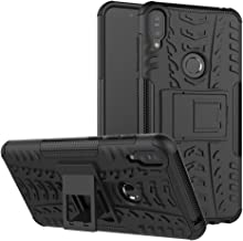 Zenfone Max Pro (M1) ZB601KL 5.99 Inch Cover Hybrid DWaybox Rugged Heavy Duty Armor Hard Back Cover Case with Kickstand for ASUS Zenfone Max Pro (M1) ZB601KL 5.99 Inch (Black)