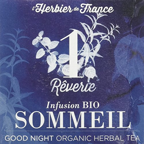 L'herbier De France N°1 Rêverie Sommeil Bio Boîte 15 Infusettes 1, 5 G AD2104
