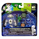 Ben 10 Alien Creation Chamber Mini Figure 2-Pack Spidermonkey and Echo Echo