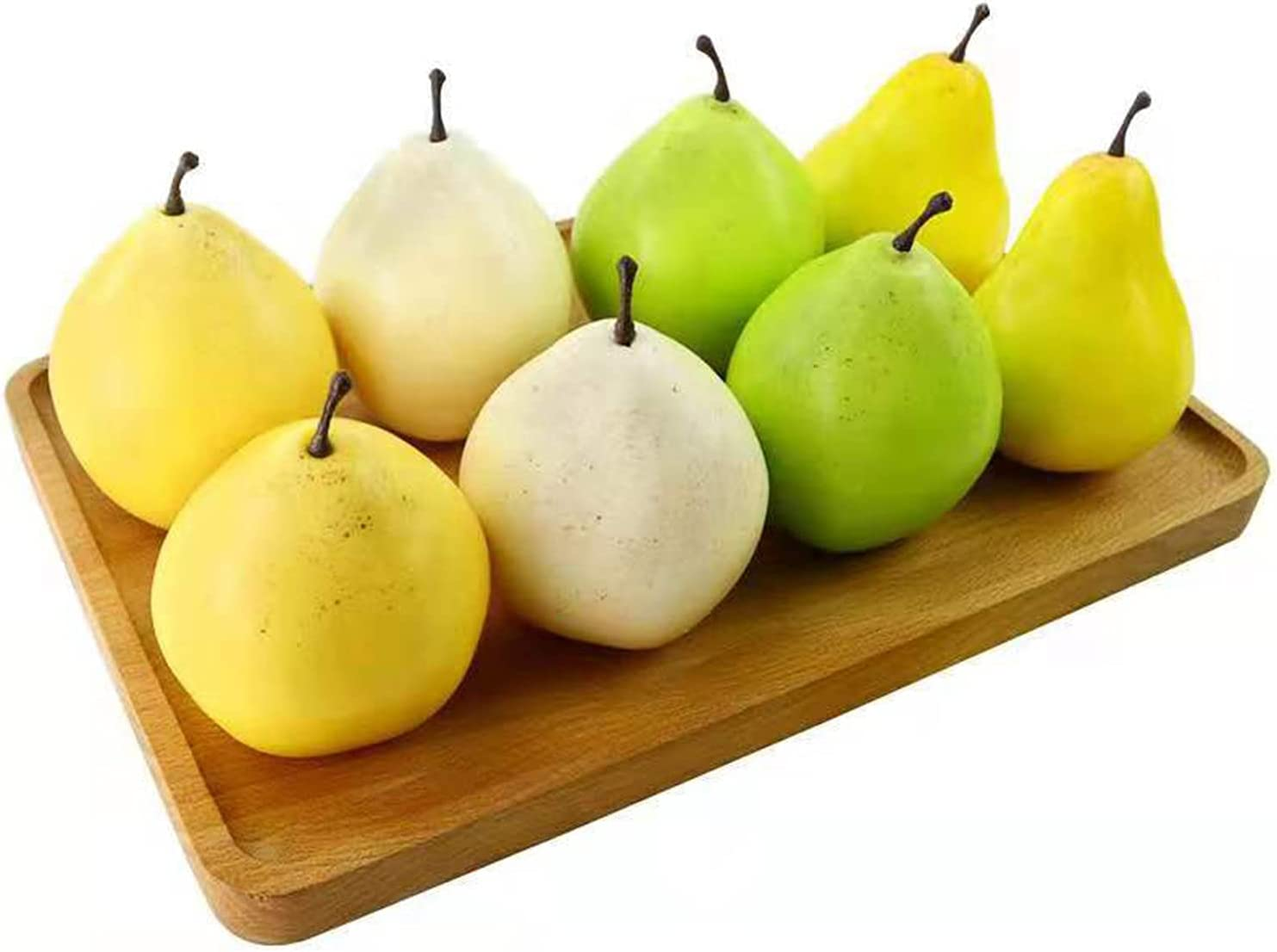 8pcs security Artificial Pear Decoration Easy-to-use Fake Lifelike Fruit Simulation F