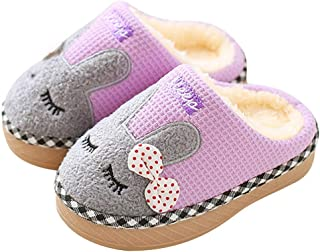 SITAILE Cute Home Shoes, Kids Fur Lined Indoor House Slipper Bunny Warm Winter Home Slippers Girls(Toddler/Little Kid)