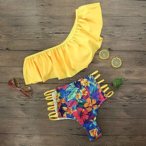Bikini Damas Traje de baño Push up Bikini Traje Verano Playa Ropa de baño Estampado Mujeres