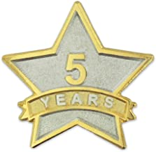 PinMart 5 Year Service Award Star Corporate Recognition Dual Plated Lapel Pin