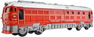 Emob® Battery Operated Friction Powered Train Toy with Light and Sound Effects (Red)