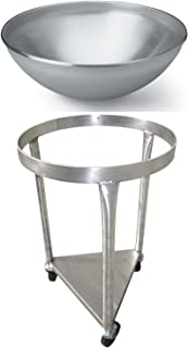 Heavy-Duty All-Stainless-Steel Mobile Dolly Stand for 80-Quart Vollrath Mixing Bowl 79800 - Bowl Included