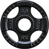 Focus Fitness Eisen Olympia 50 mm Bohrung Hantelscheiben, Schwarz, 2.50 kg