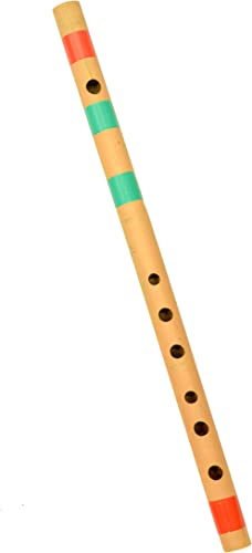 Link O Line Bansuri C Natural Right Handed 7 Hole Bamboo Flute Musical Instrument for Beginners and Professional