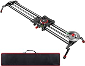 """GVM Flywheel Camera Slider 31""""/80cm Carbon Fiber Dolly Rail Track Stabilizer Sturdy with 6 Bearings for DSLR Camera DV Video Movie and Photography"""
