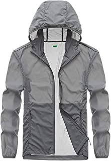 Men's Softshell Jacket, Summer Breathable Coat Couple Outdoor Sunscreen Windbreaker for Running Cycling Fishing and Travelling,Gray,4XL