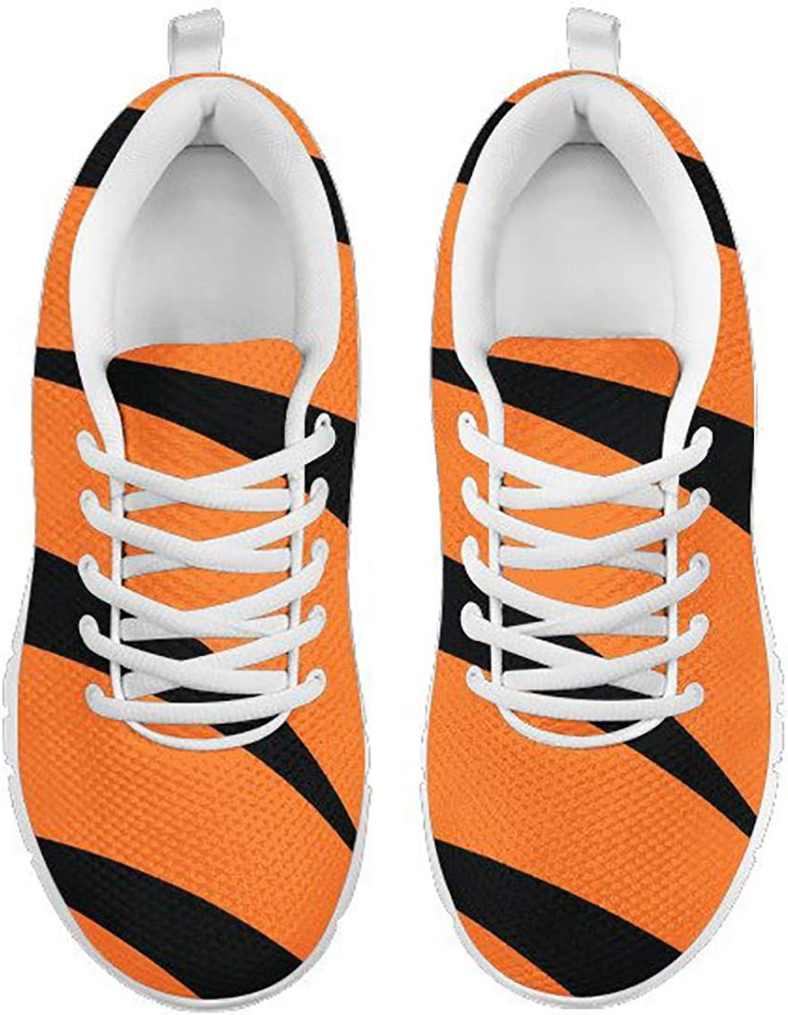 Cincinnati Bengals Helmet Themed Casual Athletic Running Shoe Mens Womens Sizes Sneakers Bengal Football Apparel and Gifts for Men and Women