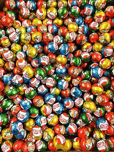 6KG - Christmas Chocolate Praline Hazelnut Foil Wrapped Balls - Approximately 950 Balls