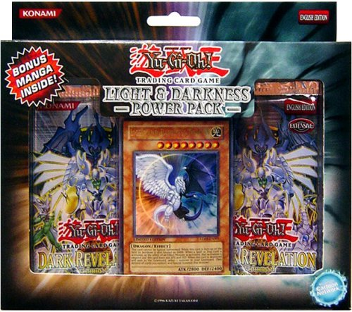 Yu-Gi-Oh Cards - Light & Darkness Dragon POWER PACK (w/ 2 DR04 packs, 1 Promo Card & Sample Manga)