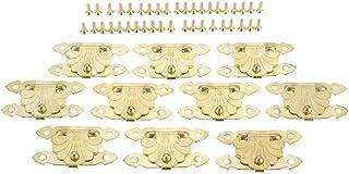 10 stks Antiek Messing/Goud Houten Hangslot Haspen Sieraden Geschenkdoos Decoratieve Hasp Latch Home Meubels Gesp Sluiting...