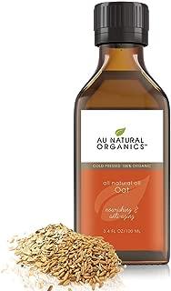 Organic Oat Oil - 100% Anti Aging Antioxidant Face, Body, Hair, Nails Moisturizer - by Au Natural Organics
