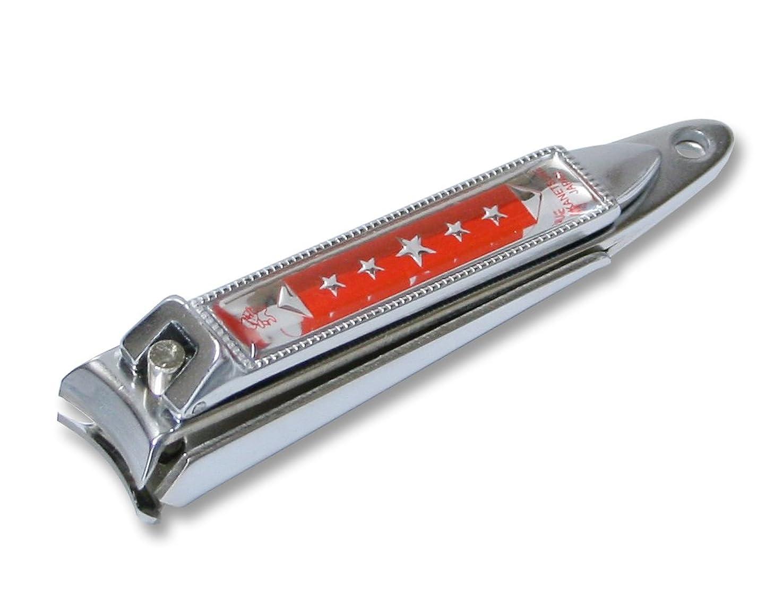 続編住む訴えるKC-051RD 関の刃物 関兼常 チラーヌ爪切 中 赤