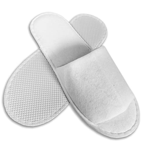 3bc17570c53 10 Pairs SPA HOTEL Guest SLIPPERS OPEN TOE TOWELLING DISPOSABLE TERRY STYLE  NEW