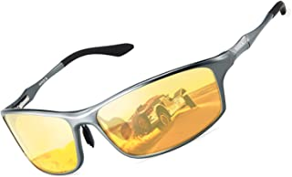HD Night Driving Glasses Anti Glare Safety Night Vision Glasses for Driving Polarized Sunglasses for Men Women