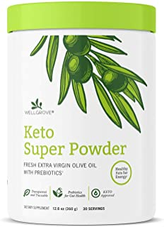 Sponsored Ad - WellGrove Keto Super Powder | Zero Net Carbs, Prebiotic Fiber, Boost Energy and Mental Performance, Ketogen...