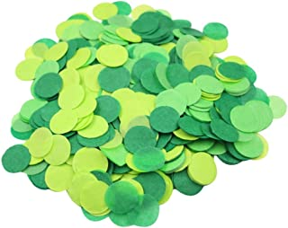 Mybbshower Green Paper Confetti Birthday Party Decorations Spring Wedding 1 inch 5000 Pieces