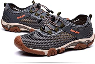 Marine Shoes Shoes Summer Non-slip Soft Bottom Men And Women Lycra Mesh Breathable Mesh Breathable Shoes Male Tendon Bottom River Shoes Outdoor Hiking Walking Shoes Sports Lightweight Casual Shoes Gra