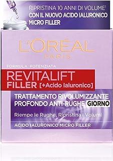 L'Oréal Paris Crema Viso Giorno Revitalift Filler Azione Antirughe Rivolumizzante con Acido Ialuronico Concentrato, 50ml