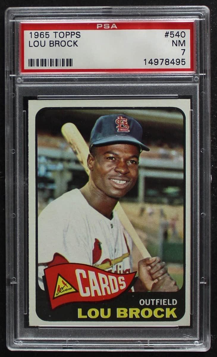 1965 Topps # 540 Lou Brock Ranking TOP12 Card St. Cardinals P Baseball Jacksonville Mall Louis