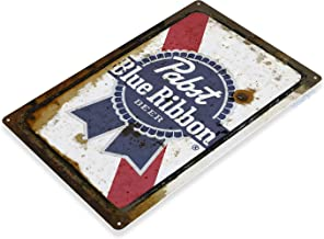 Tinworld TIN Sign C133 Pabst Blue Ribbon Beer Rustic Retro Bar Pub Beer Brewery Metal Sign Decor Cottage Cave